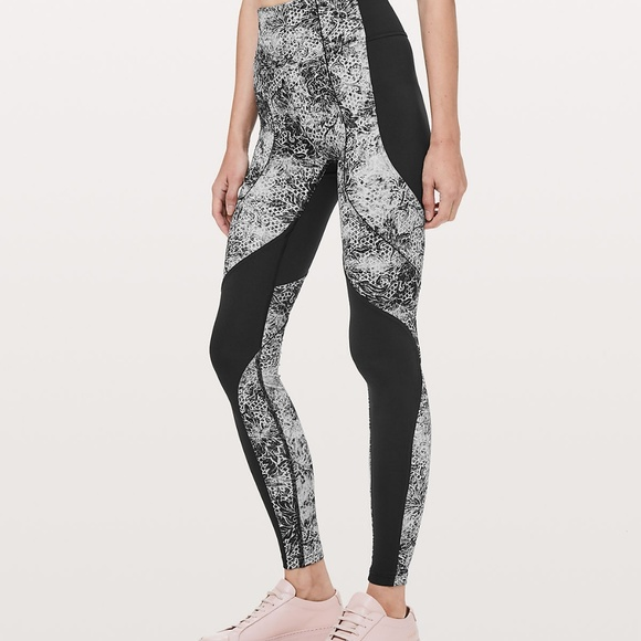 9fa105dc4e lululemon athletica Pants | Nwt Lululemon Floral Slim Black Yoga ...